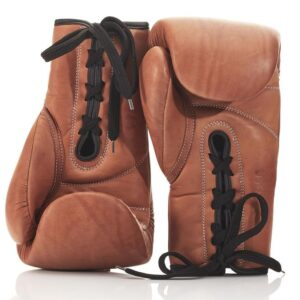 Deluxe Leather Lace Boxing Gloves